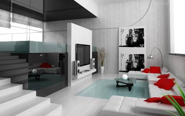 futuristic living room plexiglass
