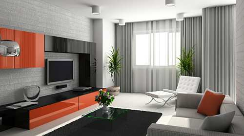 moden living room curtain