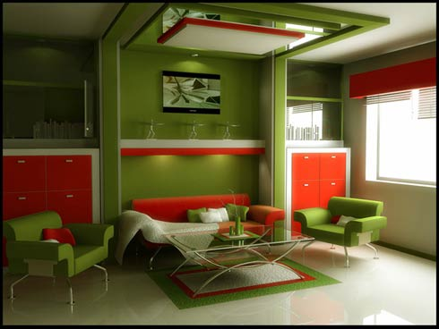 living-room-red-green