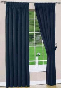 marine blue curtains