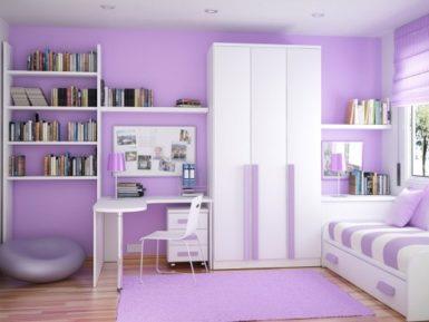 purple bedroom girls