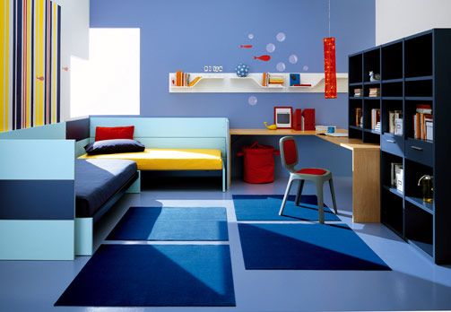 blue bedroom for boy