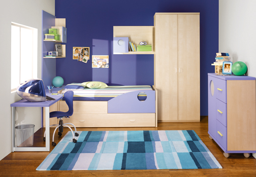 Blue boy bedroom carpet
