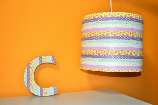 washi tape lighting