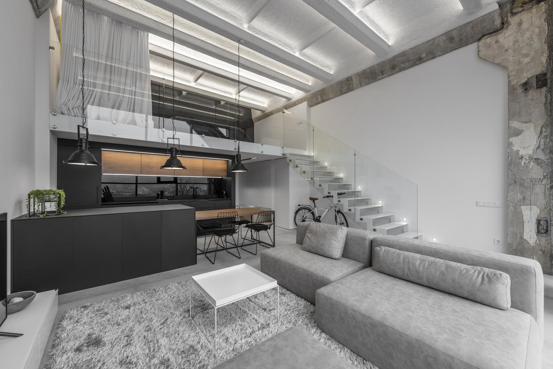 Modern loft stairs design