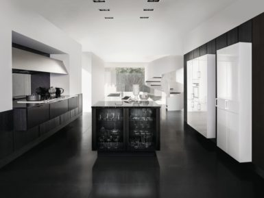 Moden black kitchen