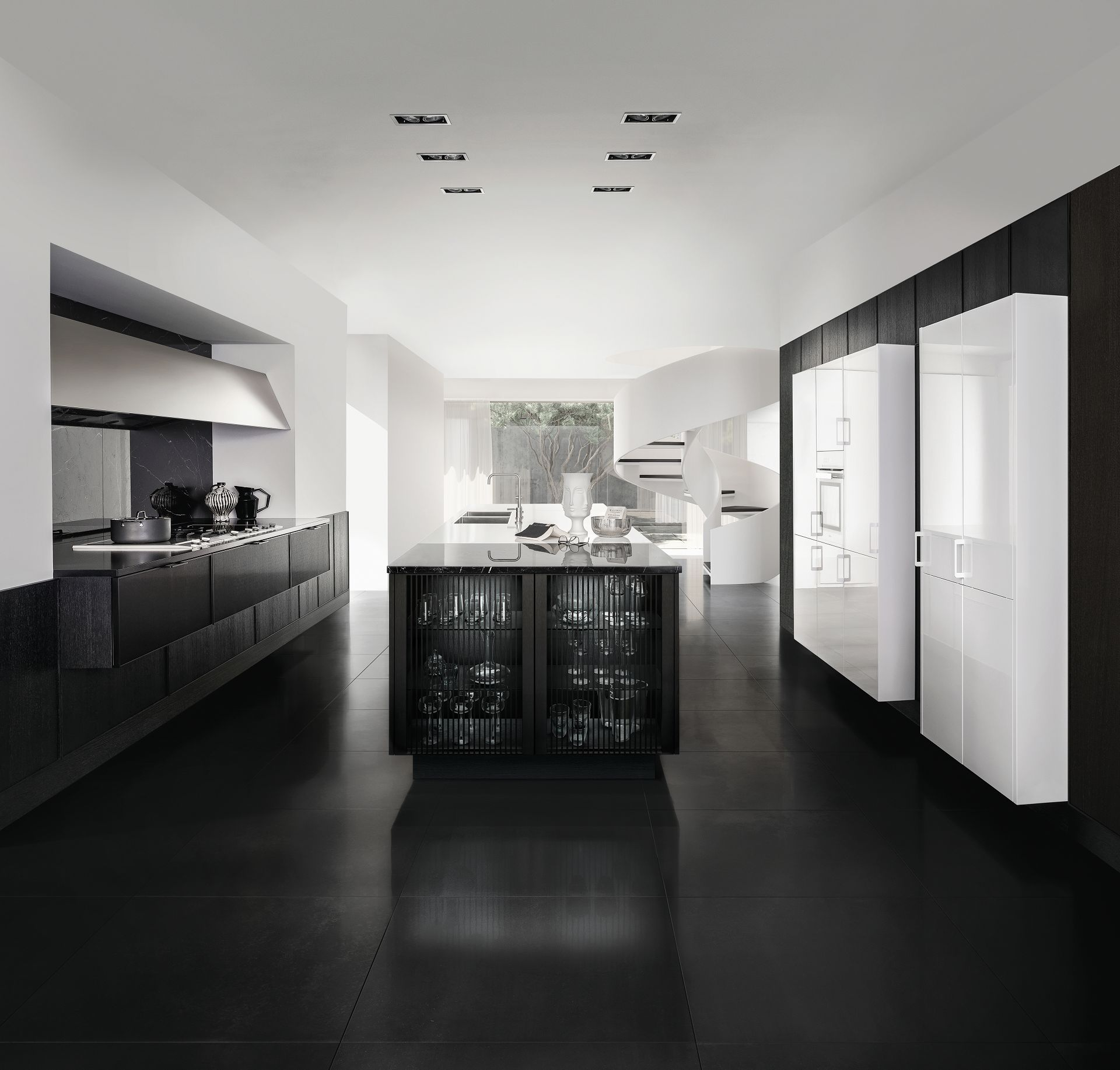Modern Black Kitchen Free Interior Decorating Ideas