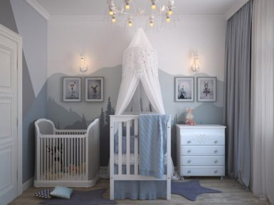 multicolor baby's room