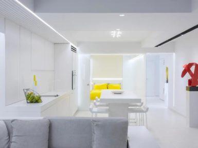 full white interior
